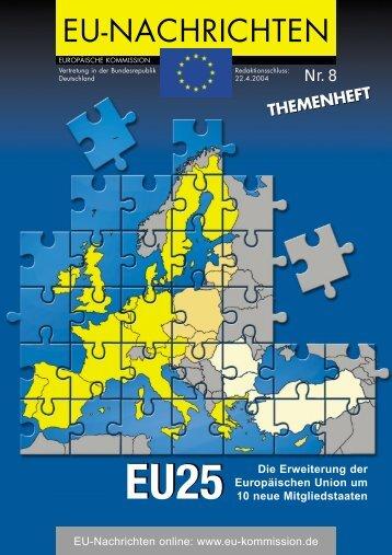 EU-Nachrichten Themenheft Nr.8 - Europa