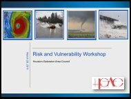Risk and Vulnerability Workshop - Houston-Galveston Area Council