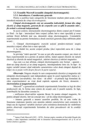 C. Legea Gauss pentru cmp magnetic (legea fluxului inductiei ...