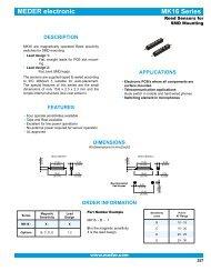MEDER electronic MK16 Series