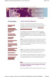 Page 1 of 6 Quality & Tertiary Education Policy e-news (Issue 110) 2 ...