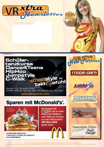Schüler- tanzkurse Dance4Teens HipHop Jumpstyle ... - VR xtra Club