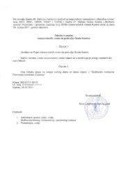 Odluka o popisu nerazvrstanih cesta na području Grada Kastva