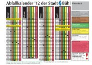 Abfallkalender '12 der Stadt Bühl