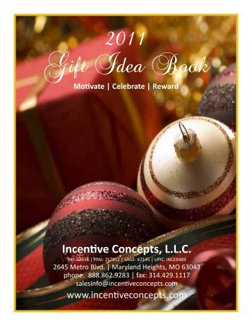 2011 Gift Idea Book - Incentive Concepts