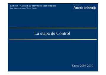 La etapa de Control