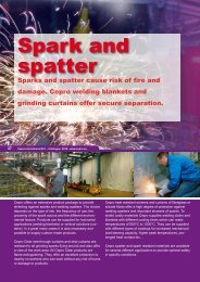 Spark and spatter - Cepro