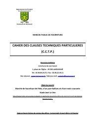 CCTP MAPA main courante LE VEN - Commune de Lanrivoaré
