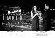 functions & events christmas packages - The Chalk Hotel