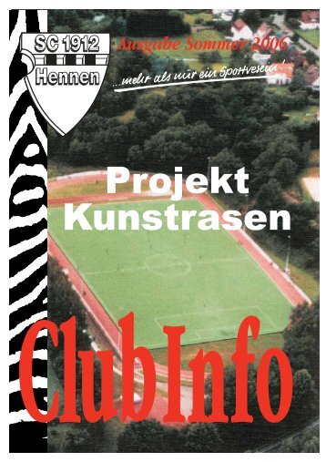 Club Info Ausgabe Sommer 2006 (PDF-Datei, ca 2,41 MB)
