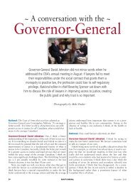 Governor-General - Creativity in the legal practice