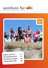 Her kan du lese Samfunn for alle nr. 3 2010 - NFU