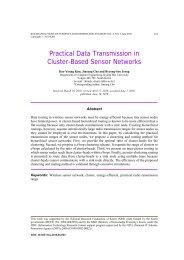 Practical Data Transmission in Cluster-Based Sensor Networks