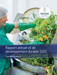 Rapport annuel et de développement durable 2012, PDF ... - Weleda
