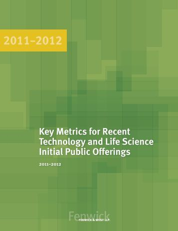 Technology and Life Sciences IPO Survey - March 2013