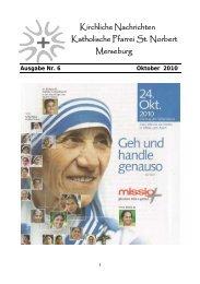 Ausgabe Nr. 6, Oktober 2010 ( PDF -Datei, 349 kB) - Katholische ...