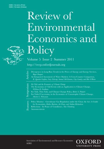 Front Matter (PDF) - Review of Environmental Economics and Policy