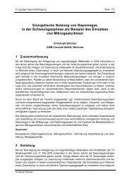 Energetische Nutzung von Deponiegas in der Schwachgasphase ...