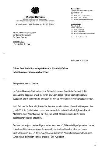 Mdb Brief Adressen Oben Funktion Arialdot Winfried Hermann