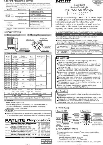 patlite signal tower wiring diagram sesapro