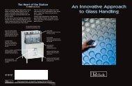 Glasswasher brochure - Lenox-Martell Inc