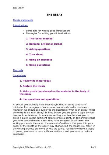 Essay on universities