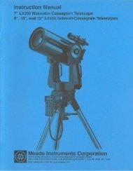 MeadeLX200 Basic Manual