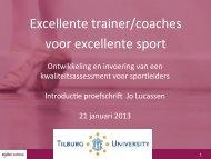 Excellente trainer/coaches voor excellente sport - Mulier Instituut