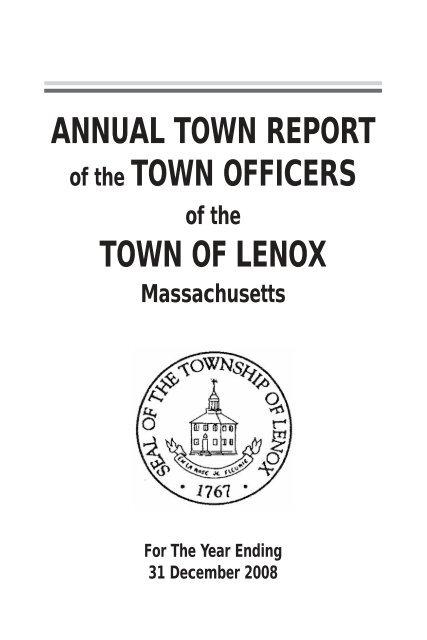 Town of Lenox, Massachusetts