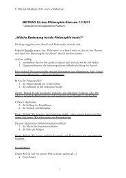 Welche Bedeutung hat die Philosophie heute  - Schalhorn