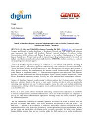 Gentek is pleased to announce that Digium, the Asterisk Company ...