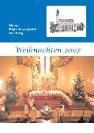 Weihnachtspfarrbrief 2007 - Pfarrei MARIA HIMMELFAHRT Kaufering