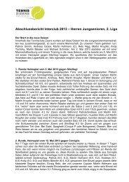 Herren Jungsenioren, 2. Liga - Tennisclub Zizers