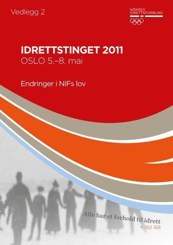 Endringer i NIFs_lov.pdf - Norges idrettsforbund