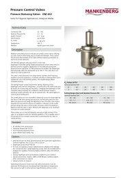 Pressure Control Valves - Mankenberg