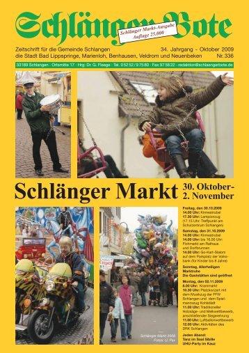 Schlänger Markt! - Schlänger Bote