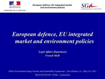 European defence, EU integrated market and environment ... - E2S2