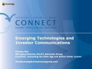 Emerging Technologies and Investor Communications - Broadridge