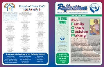 FGDM Reflections Article - Children's Aid Society of Brant