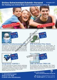 Großer Schwimmbad Katalog 2011 Online-Shop - T.  Scharner GmbH