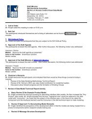 Draft Minutes SIA Standards Committee Ad Hoc on Data Modeling ...