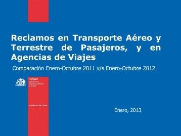 Ranking Turismo 2012: Reclamos en Transporte Aéreo y ... - Sernac