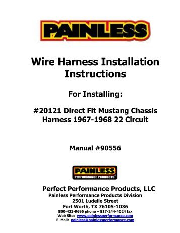 wire harness installation instructions painless wiring?quality=85 fitting instructions for nissan t31 x trail towbar wiring harness Fort Worth TX Map at mifinder.co