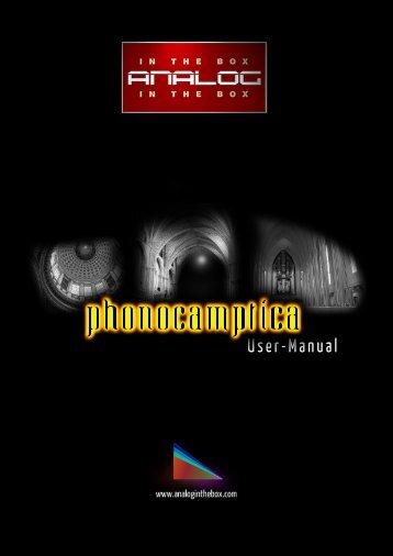 Phonocamptica Manual - Analog In The Box