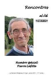 Janvier 2011 - numéro spécial Pierre Lafitte - Église Catholique d ...