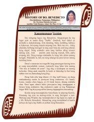 History Of Bo. Benedicto - Calantas Young Dreamers Foundation, Inc.