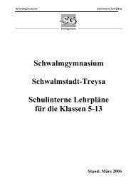 SG Schulinterne Lehrpläne - Schwalmschule Treysa