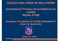 Proceso de Acreditación en el Modelo EFQM - Colegio San Jorge ...