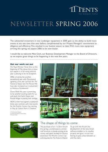 Spring Newsletter 2006 - TT Tents