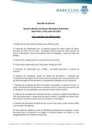 Reunião de Câmara Sessão ordinária da Câmara Municipal de ...